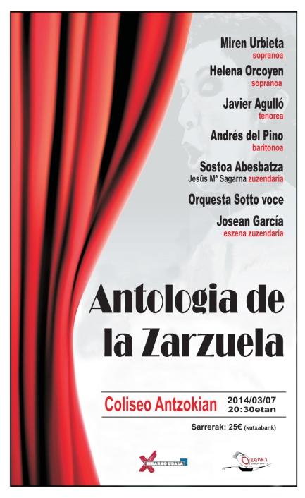 cartel antologia de la zarzuela EIBAR