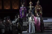 Turandot (Palau de Les Arts Valencia). Jennifer Wilson (Turandot), Miren Urbieta-Vega (Liù)